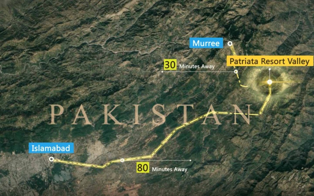 Location of Patriata Resort Valley