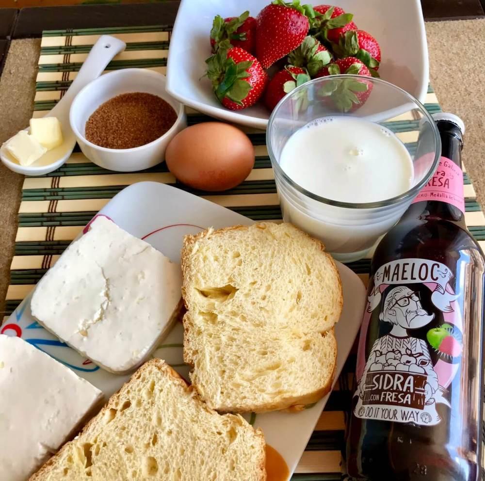 Tostadas francesas, ingredientes