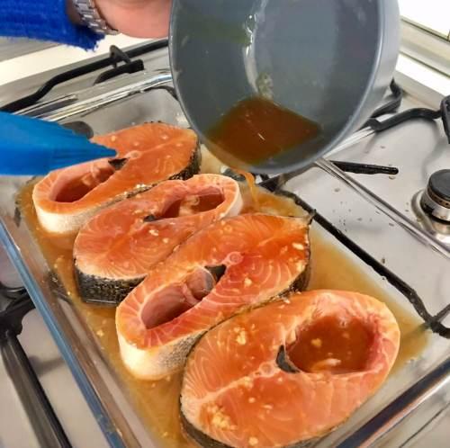 Receta fácil de salmón teriyaki