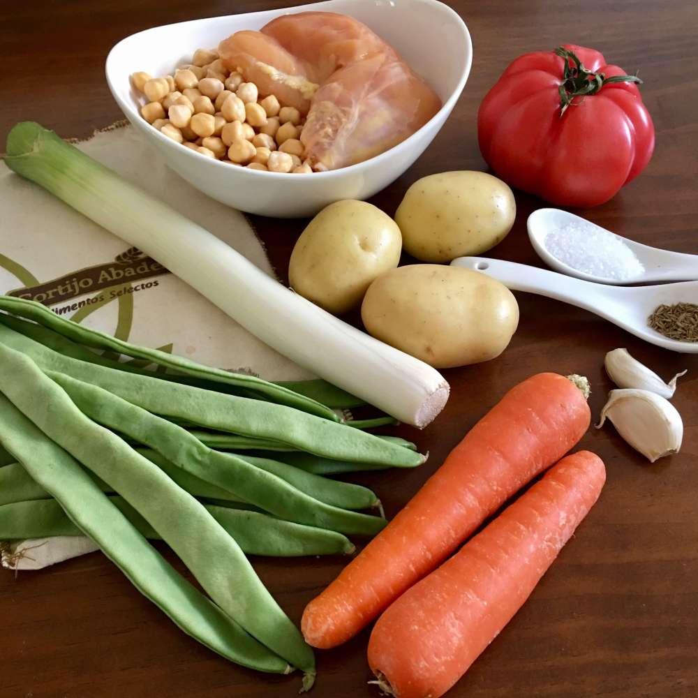 Ingredientes para hacer un cocido sano