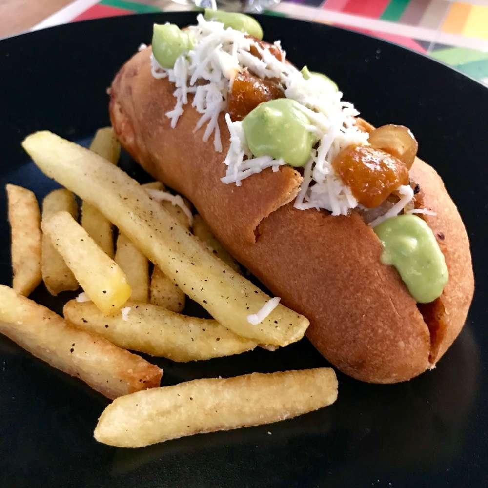 Hot Dog en restaurante La Tinta Madrid