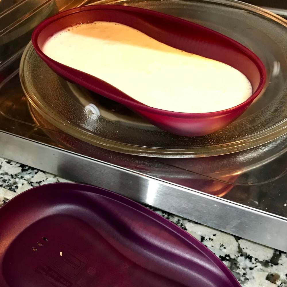 Tarta de quesitos con Tupperware