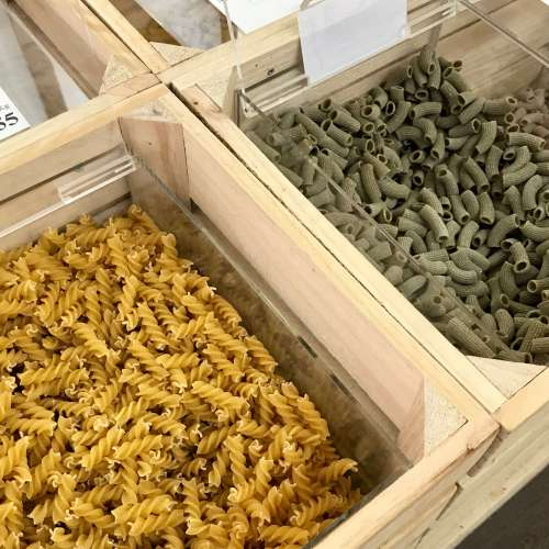 Pastas en Unpacked shop