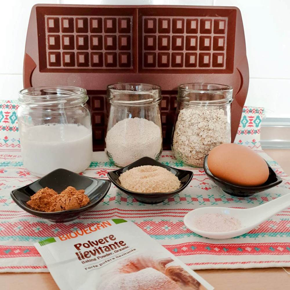 Ingredientes para hacer gofres con Tupperware