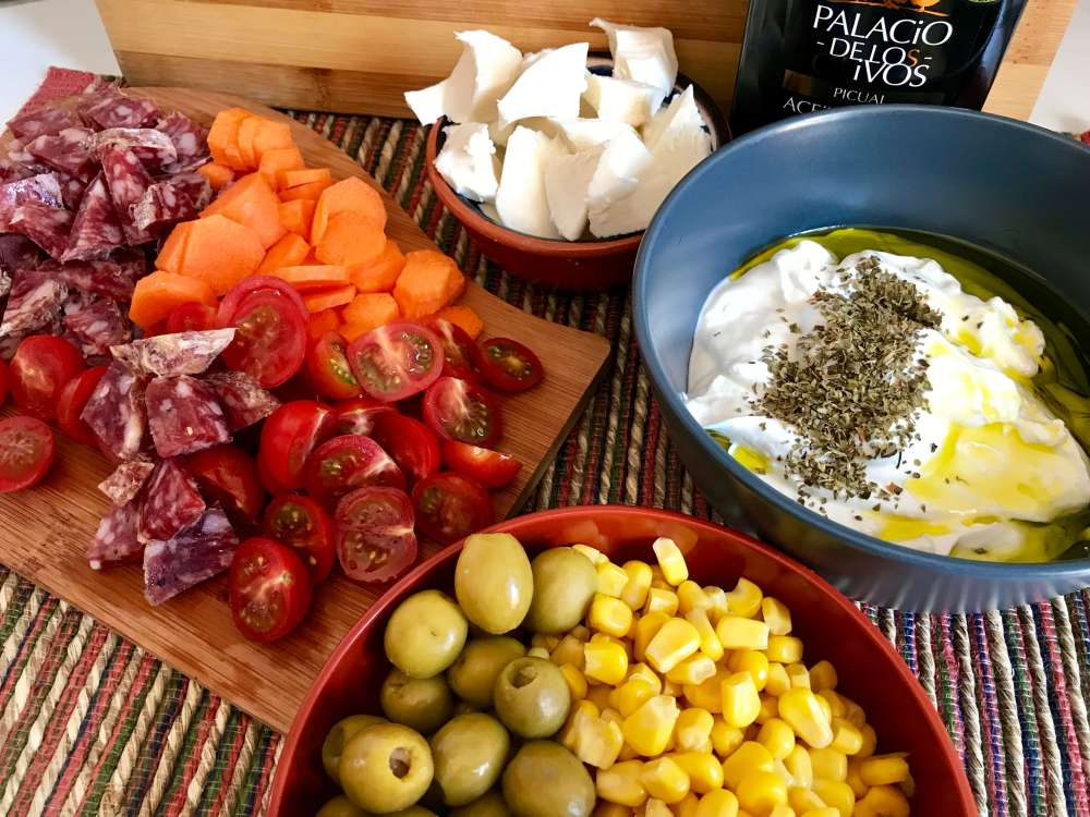 Ingredientes para preparar ensalada