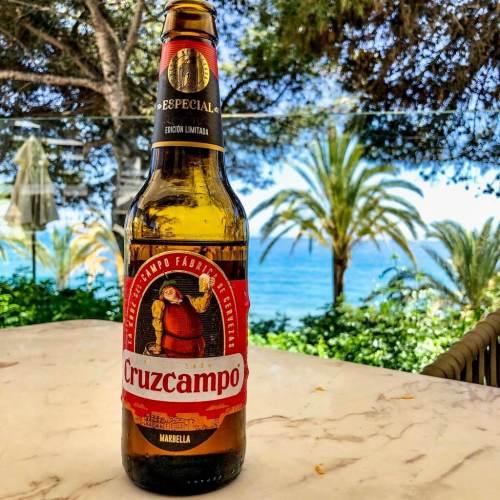 Cerveza Cruzcampo Marbella