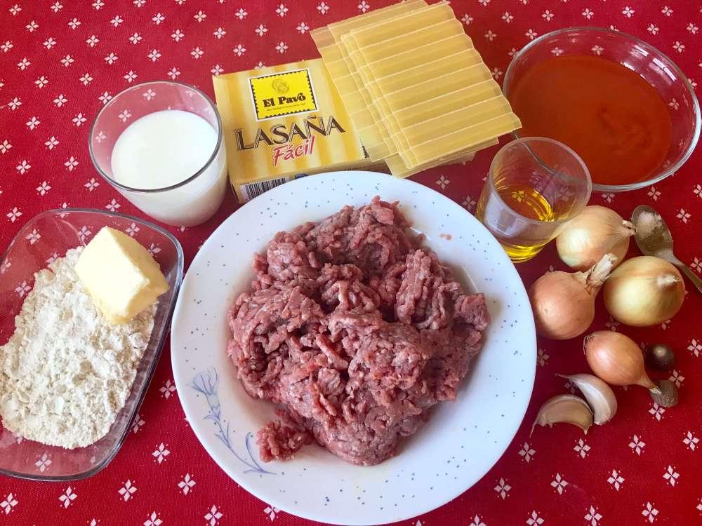Ingredientes para hacer lasaña