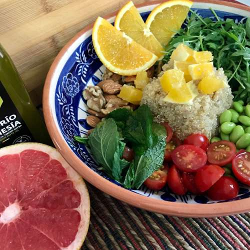 Receta fitness de quinoa