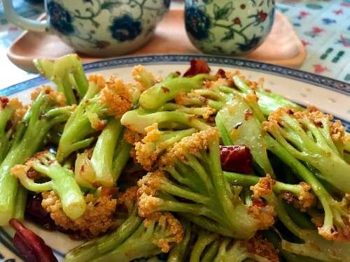 Verduras estilo chino