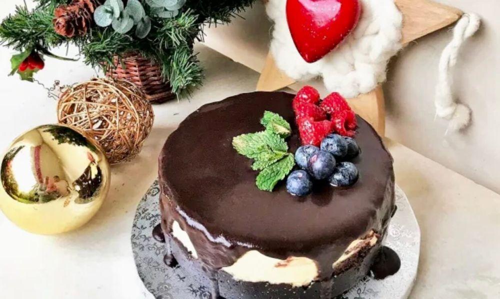 Tarta vegana de Navidad