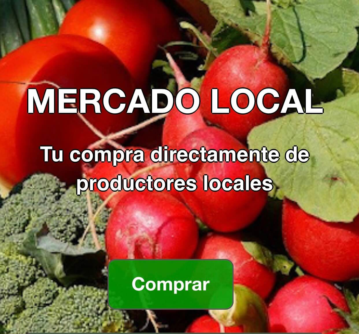 Mercado local en Tablón de anuncios