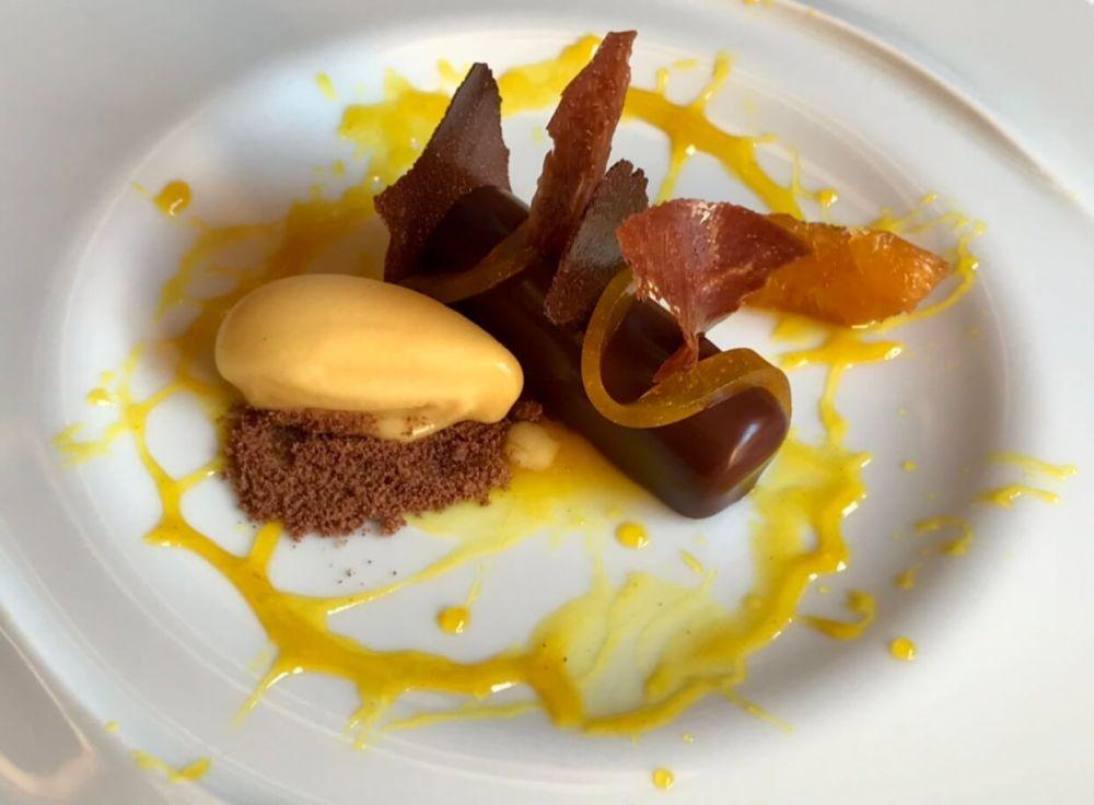 Repostería Michelin en restaurante A´Barra Madrid