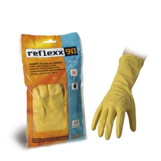 Guanti riutilizzabili felpati in cotone art. REFLEXX 90