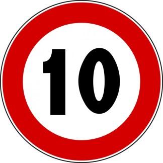 Segnale stradale: NF 50 LIMITE VELOCITA'