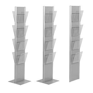 Espositore a pavimento o a parete in alluminio