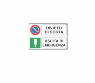 Targa LASCIARE LIBERO IL PASSAGGIO USCITA DI EMERGENZA E3525