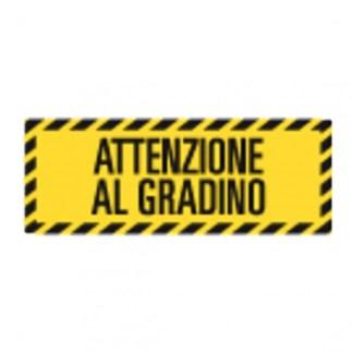 Adesivo da pavimento ATTENZIONE AL GRADINO