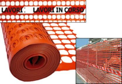 Rete arancio per cantieri LAVORI IN CORSO
