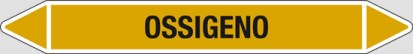 Etichetta autoadesiva per tubazioni: OSSIGENO art. 99380