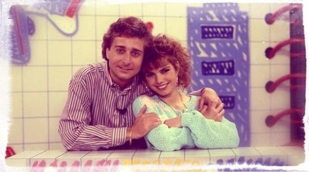 Paolo Bonolis e Manuela Blanchard Beillard