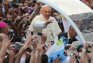 Papa Francesco in Brasile per la giornata mondiale coi giovani