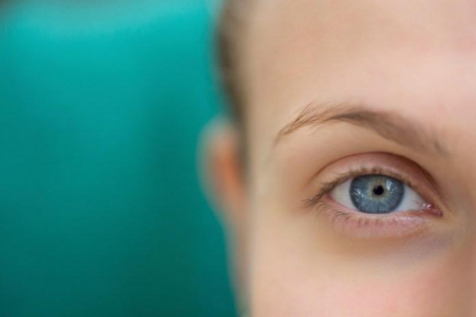 Focus on blue eyes
