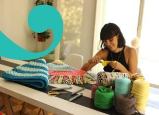 Taller de alfombra de trapillo a crochet