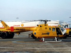 One of the first HEMS helicopters in the Netherlands is this Bolkow Bo-105 PH-NZX.