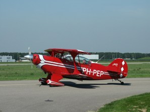 Pitts S2B Special PH-PEP of Wings over Holland at Lely Stad Airport.