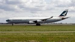 Airbus A340-313X B-HXH Cathay Pacific Airways