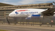 Heathrow service aerea with Britsh Airways Boeing 747