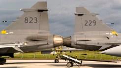 IMGP3265-ILA JAS 39 Gripen Swedish Air Force 823 and 229