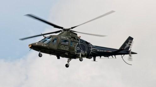 IMGP6422 Agusta A-109HO A-109BA H-24 Belgian AF Flares