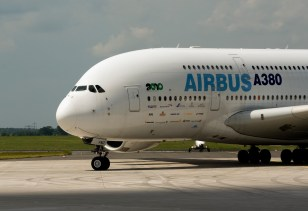 A380 taxiing at Berlin ILA Friday June 11th 2010