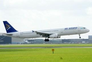 Airbus A321-231 P4-OAS Air Astana