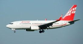 Boeing 737-7BK 4L-TGN Airzena - Georgian Airways