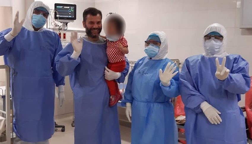 Niña de 2 años vence al Coronavirus en Perú