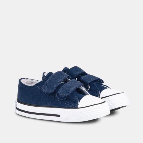 Zapatillas Lona Marino Velcro Conguitos
