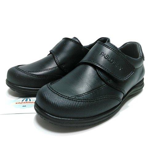 Pablosky zapato colegial marino velcro