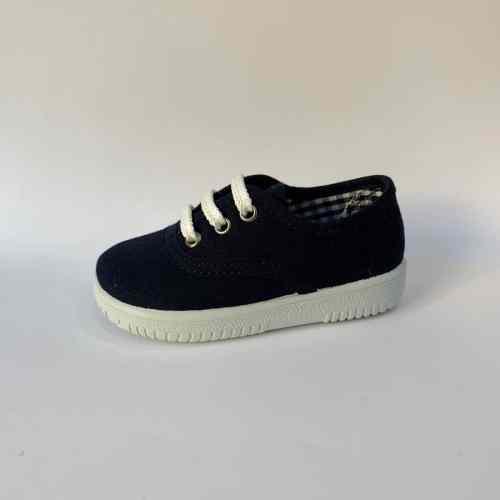 Zapatillas de lona azul marino niños