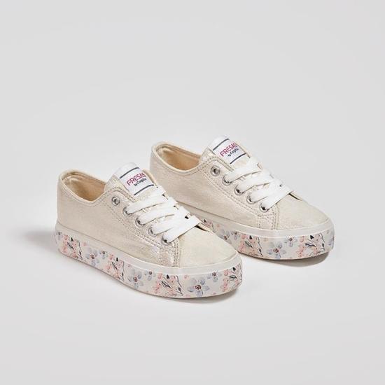 zapatillas blancas doble suela para niñas