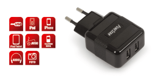 Adaptador CA/CC USB 2000mA Fonestar