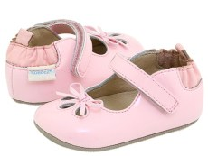Robeez - Patent Mary Jane (Infant) (Pink) - Footwear