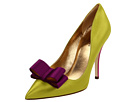 Kate Spade New York - Latrice (Lime Satin, Purple Satin Bow) - Footwear
