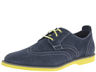 Florsheim - HiFi Wing Ox (Navy Suede/Charcoal Welt/Lime Sole) - Footwear