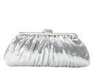 Jessica McClintock - Pleated Frame Clutch (Silver) - Bags and Luggage