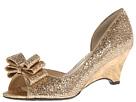 J. Renee - Chrissy (Gold Glam Fabric) - Footwear