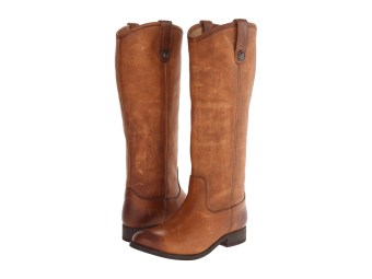 Frye - Melissa Button (Cognac Washed Antique Pull Up) Cowboy Boots