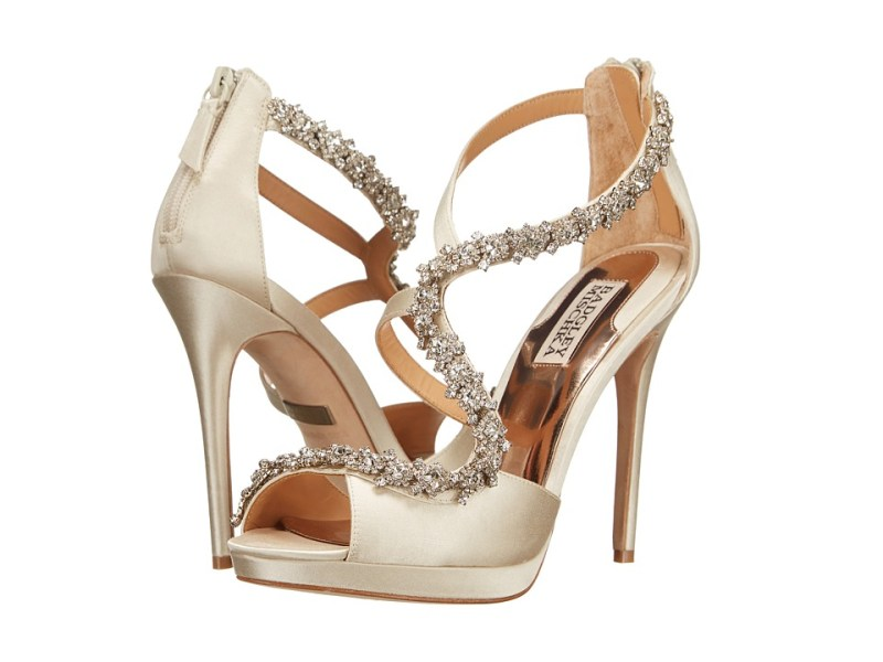 Badgley Mischka Flair (Ivory Satin) High Heels