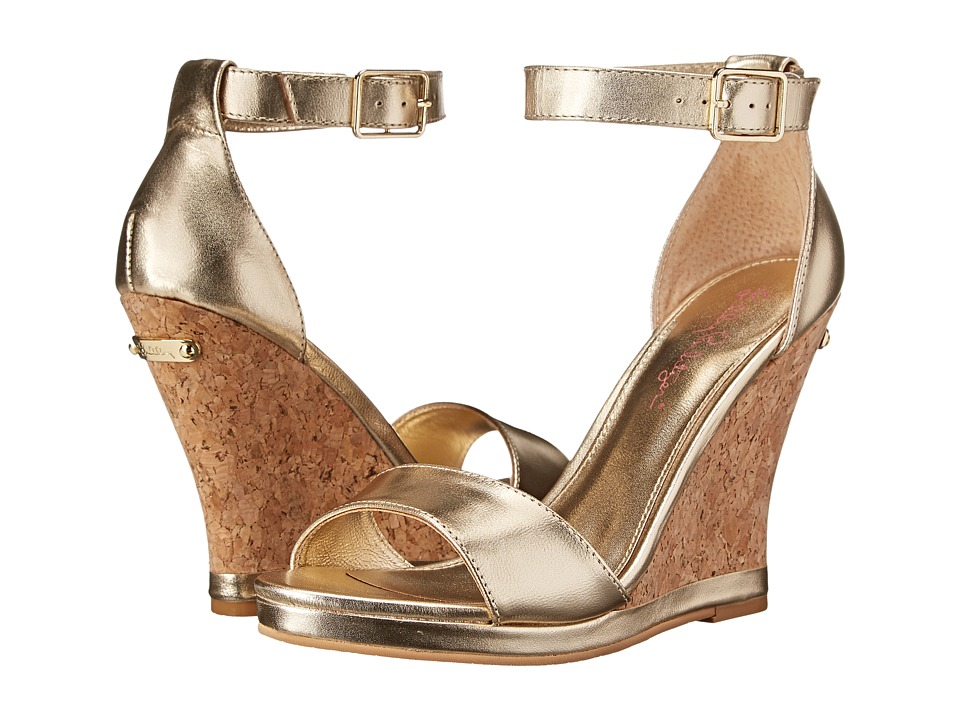 Lilly Pulitzer - Karen Wedge (Gold Metallic) Women's Wedge Shoes